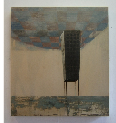 Tower, 70 x 80 cm, oil on canvas,  2008