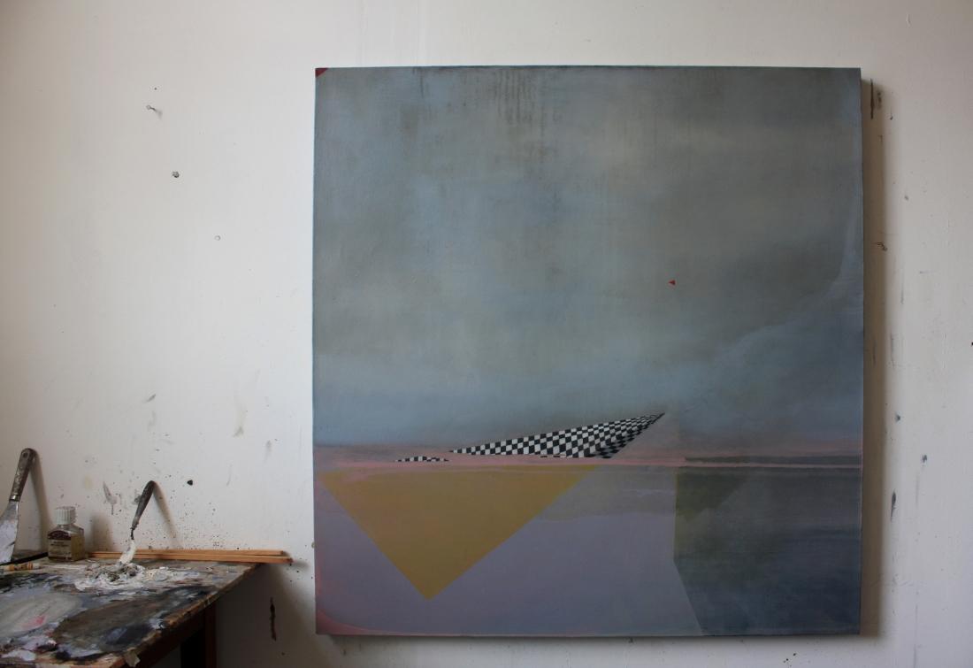 Breaker III, oil on canvas, 106 x 100 cm, 2017