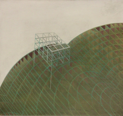 Building on building, oil on canvas, 75 x 80 cm, 2009