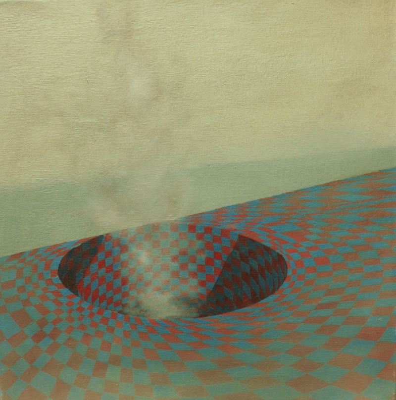 Centralia, 40 x 40 cm, oil on canvas, 2012.
