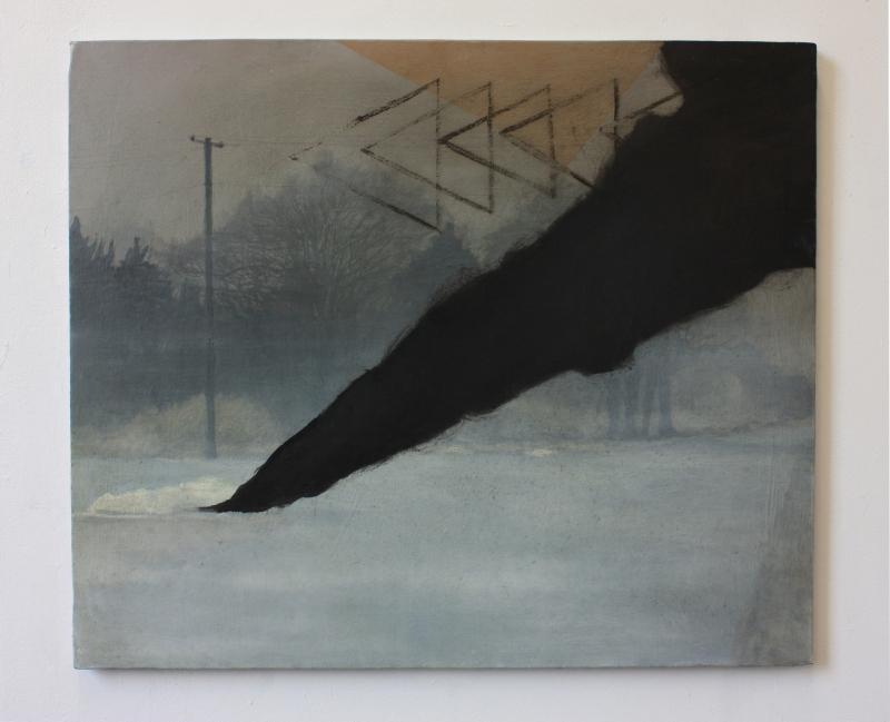 Center Street, oil on canvas,50 x 60 cm, 2015.