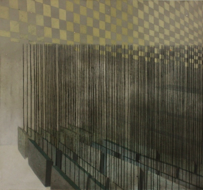 City block 2, oil on canvas, 75 x 80 cm, 2009