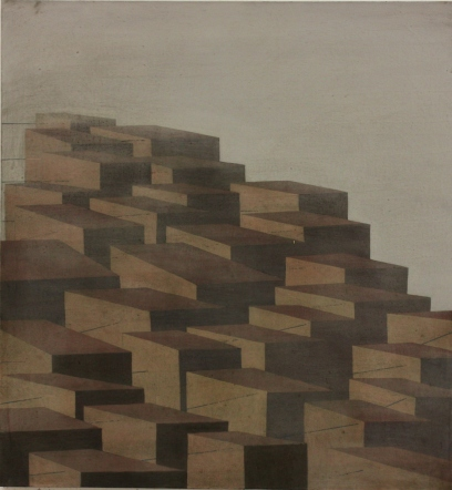 City planning II, oil on canvas, 75 x 80 cm, 2009