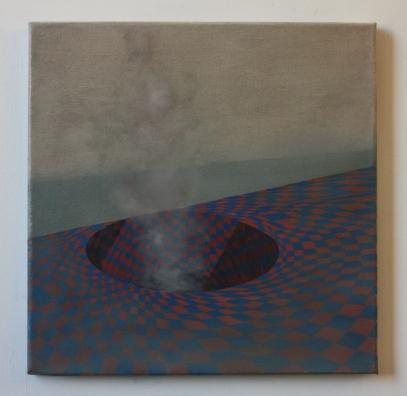 Centralia, 40 x 40 cm, oil on canvas, 2013.