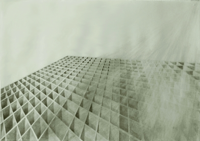 Unbuilding, pencil on paper, 70 x 50 cm, 2012.