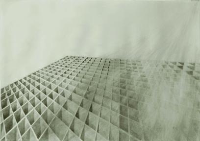 Unbuilding, pencil on paper, 70 x 50 cm, 2012.
