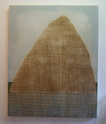 Urban mountain, 70 x 80 cm, oil on canvas 2008