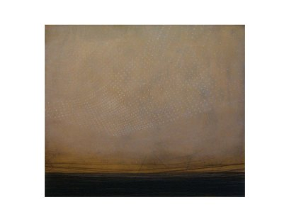 City lights, oil and thread on canvas, 70 x 80 cm, 2006.