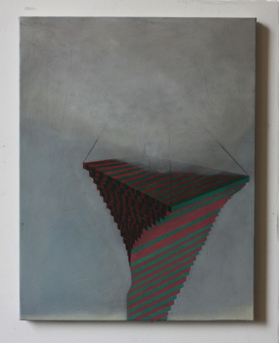 Devouring force II, 35 x 45, oil and pencil on canvas, 2014