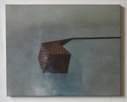 Extension, 50 x 40 cm, oil and pencil on canvas, 2012.