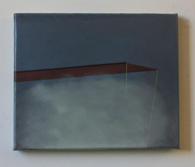 Platform, 30 x 25 cm, oil on canvas, 2014