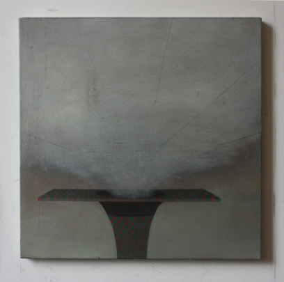 Platform, 40 x 40 cm, oil and pencil on canvas, 2014