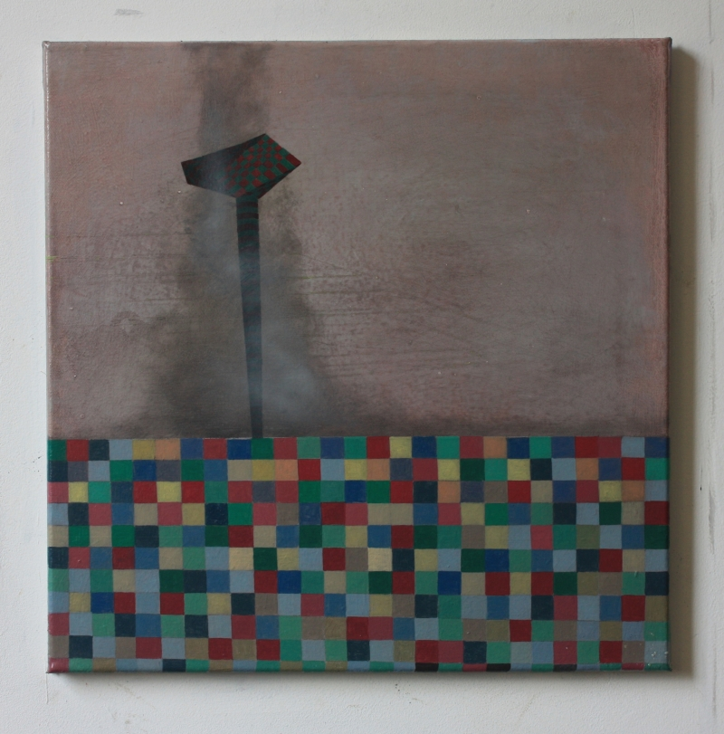 Tower II, 40 x 40 cms, oil on canvas, 2014