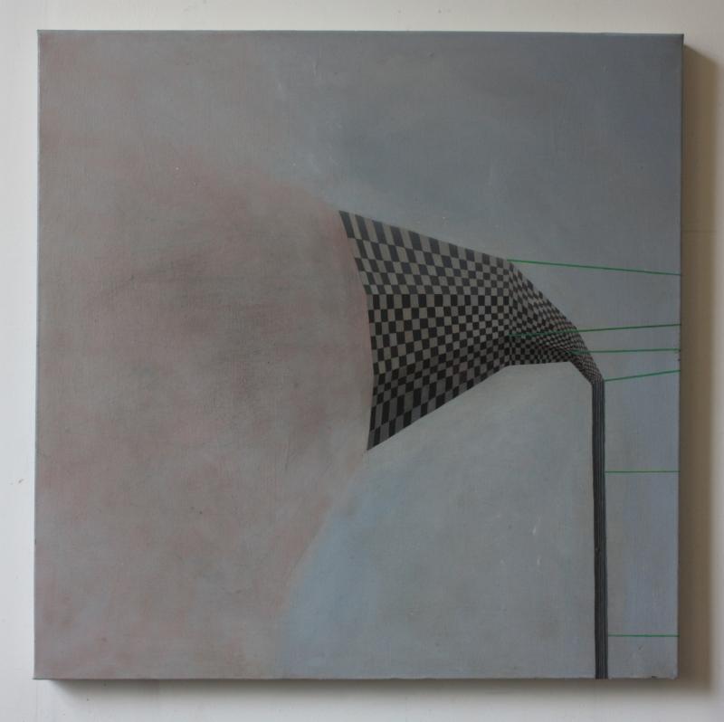 Vent, 70 x 70 cms, oil on canvas.