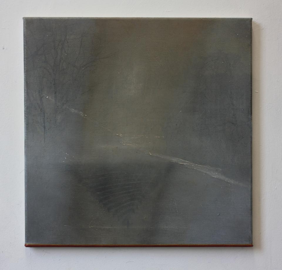 Trautwine Street oil on canvas, 40 x 40 cm, 2015.