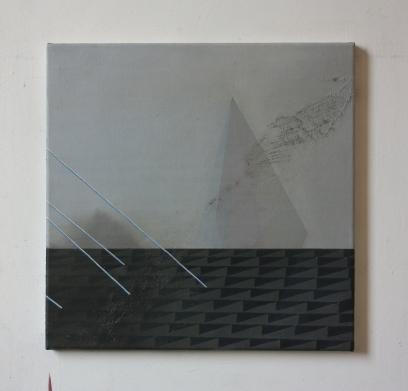 Center Street II, oil on canvas, 40 x 40 cm, 2016.