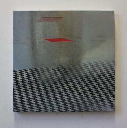 Platform, 50 x 50 cm, oil on canvas, 2016.