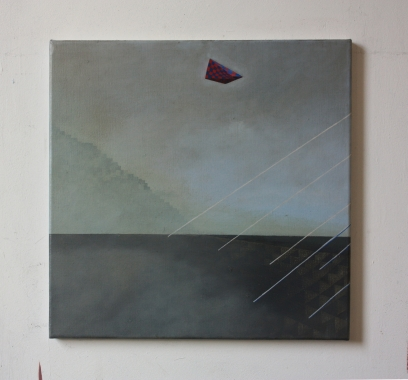 Suspension II, 40 x 40 cm, oil on canvas, 2016