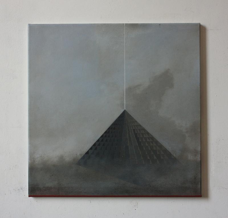 Suspension, oil on canvas, 50 x 50 cm, 2016.